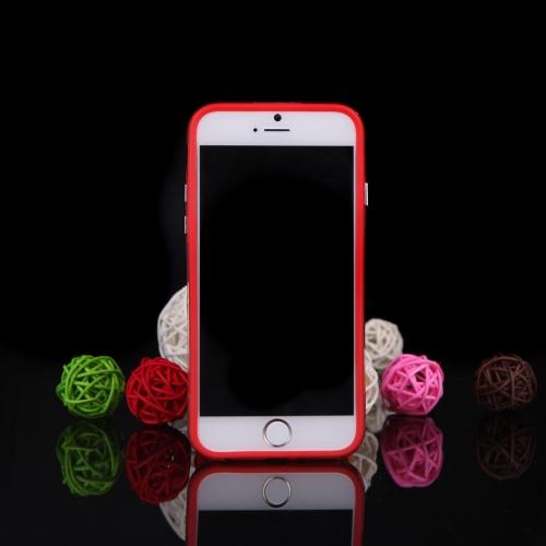 TPU + PC pára-choques Frame Shell estojo para iPhone 6 Plus 6S Plus vermelho
