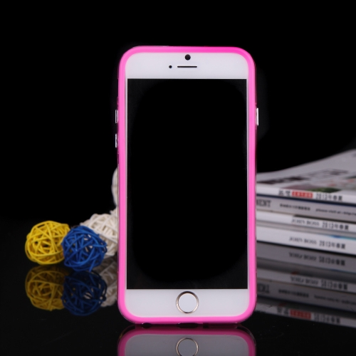 TPU + PC pára-choques Frame Shell estojo para iPhone 6 Plus 6S Plus rosa
