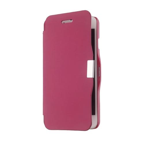Magnético Flip PU couro pele Ultra Slim bolsa carteira caso tampa protetora casca dura para 5,5