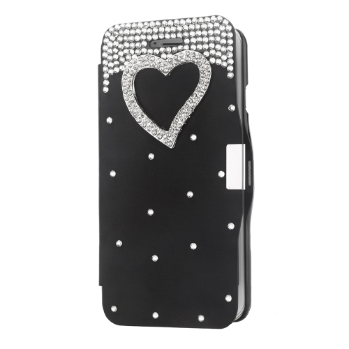 Magnetic Flip PU Leather Hard Skin Ultra Slim Pouch Wallet Case Cover Bling Diamond Rhinestone Crystal for 5.5