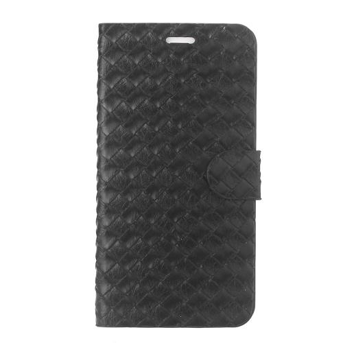 磁気反転テクスチャ PU レザー ケース ハード PC バック カバー肌ポーチ超スリム用カード スロット アップルの iPhone 6 プラス 5.5