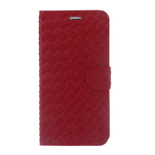 Magnético Flip texturizado PU couro caso difícil volta cobrir pele bolsa Ultra Slim ranhura para cartão PC para Apple iPhone 6 Plus 5,5