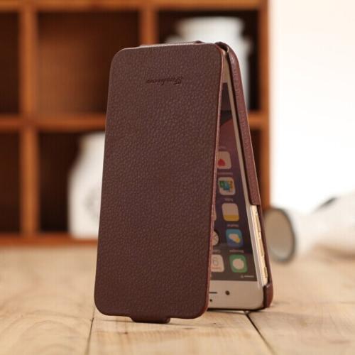 Genuine Moda + PU couro celular Ultra Slim FLip capa protetora de Shell para 4,7