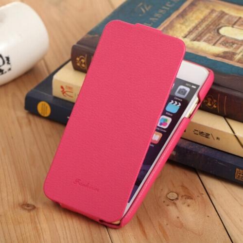 Fashion genuíno + PU couro celular Ultra Slim Flip cobrir casca protetora para iPhone 6 6S de 4,7
