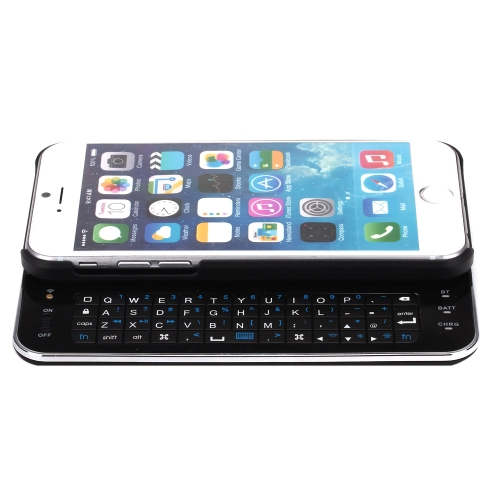English Version Mini Ultra-thin Slide-Out Wireless Bluetooth Handheld Backlight Keyboard Case for iPhone 6  4.7