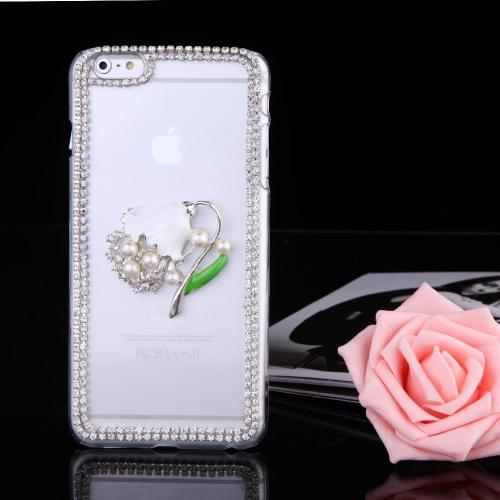 Ultrasottile Lightweight plastica Moda Bling paraurti Shell caso protettiva Cover posteriore per iPhone 6 Plus 6S Plus