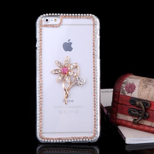 Ultrafinos Lightweight plástico moda Bling amortecedor Shell caso protetor tampa traseira para iPhone 6 Plus 6S Plus