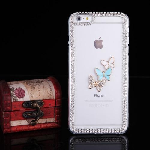 Ultra-mince léger en plastique Fashion Bling pare-chocs Shell protection retour housse pour iPhone 6 Plus