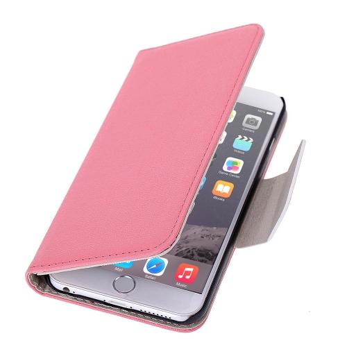 Luxo Flip PU couro duro carteira caso cobrir Textured grão bolsa ficar dobrado magnética Clip para Apple iPhone 6 4,7