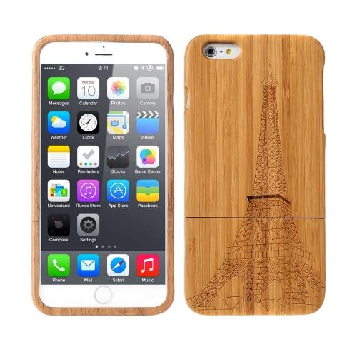 Leve bambu moda ambiental padrão de proteção caso tampa traseira para iPhone 6 Plus 6S Plus