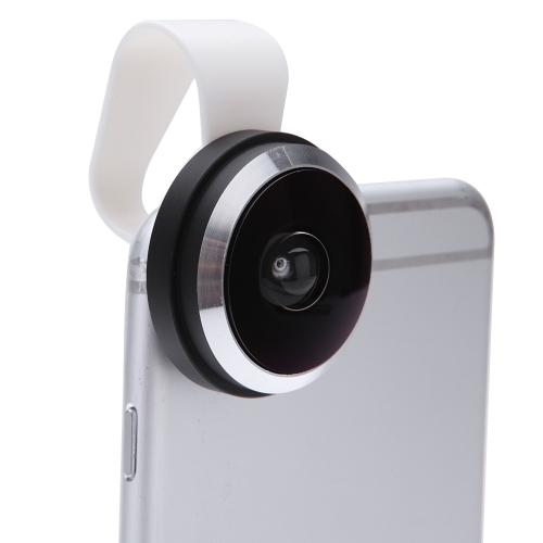 取り外し可能なクリップオンクリップ付235°魚眼フォンフォトレンズfor iPhone 6 5 Samsung Xiaomi Sony