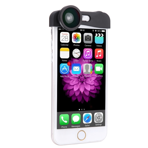 Phone Photo Lens 180° Fisheye Camera 0.67X Wide Angle 10X Macro Set with Bag for iPhone 6 4.7