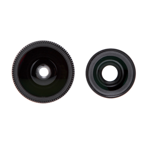 3-in-1 Phone Photo Lens 180° Fisheye 0.67X Wide Angle 10X Macro Set with Case for iPhone 5 5S
