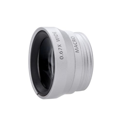 3-em-1 telefone foto lente Fisheye 0,67 X grande angular 10 de 180° X Macro cravejado de caixa para iPhone 5 5S