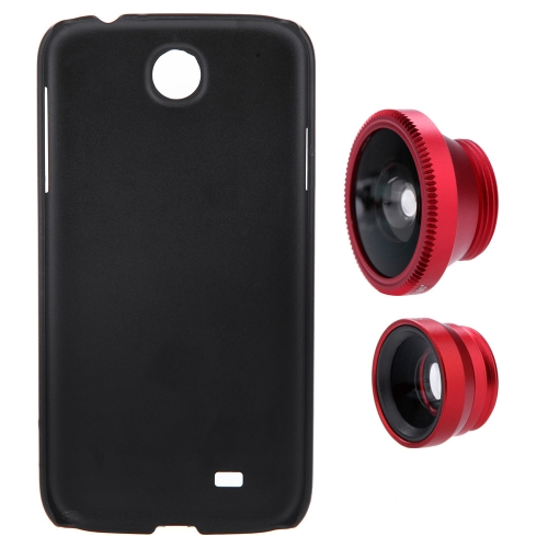 3-en-1 Téléphone Photo objectif 180° Fisheye 0,67 X grand-angle 10 X Macro en coffret pour Samsung Galaxy S4