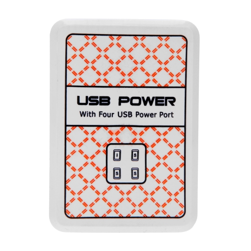 4 USB DC5V 2.1A Power Adapter Wall/Travel Charger for iPhone iPad Smart Phone Tablet