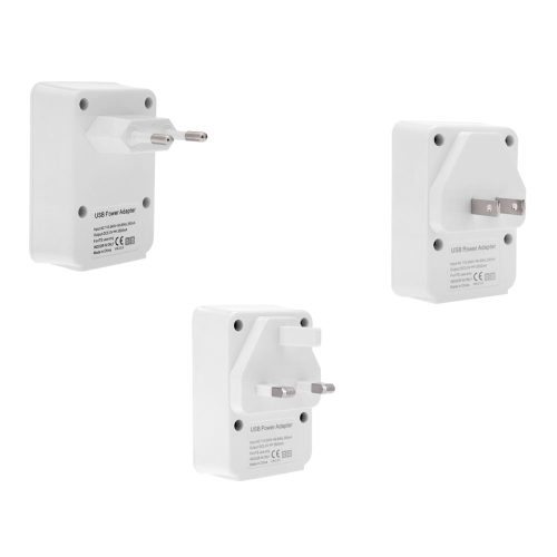 4 USB DC5V 2.1A Power Adapter Wall-Travel Charger for iPhone iPad Smart Phone Tablet