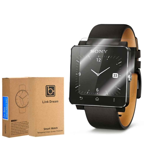 Link Dream 0.2mm 9H Tempered Glass Screen Protector Protection Film Guard Anti-shatter for Sony Smart Watch SW2