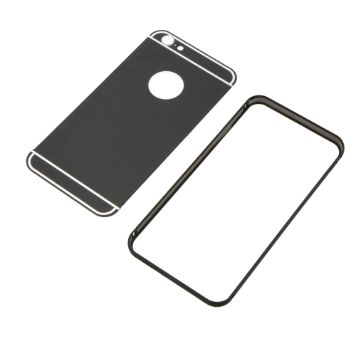 2-em-1 destacável Ultrathin Lightweight moda Bumper protetor Metal Frame Shell Case + PC tampa traseira para iPhone 6 Plus 6S Plus