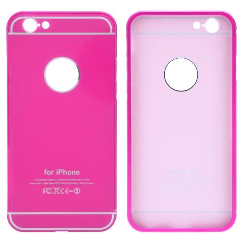2-em-1 destacável Ultrathin Lightweight moda Bumper protetor Metal Frame Shell Case + PC tampa traseira para iPhone 6 6S 4,7