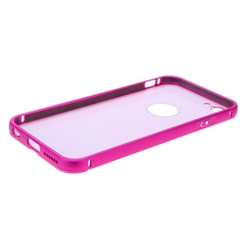 2-in-1 Detachable Ultrathin Lightweight Fashion Bumper Protective Metal Frame Shell Case + PC Back Cover for iPhone 6 4.7""