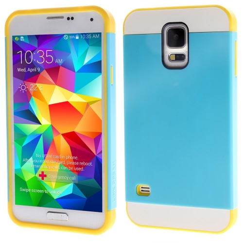 Link Dream Contrast Color Lightweight Fashion Bumper Shell Case Protective Back Cover for Samsung Galaxy S5
