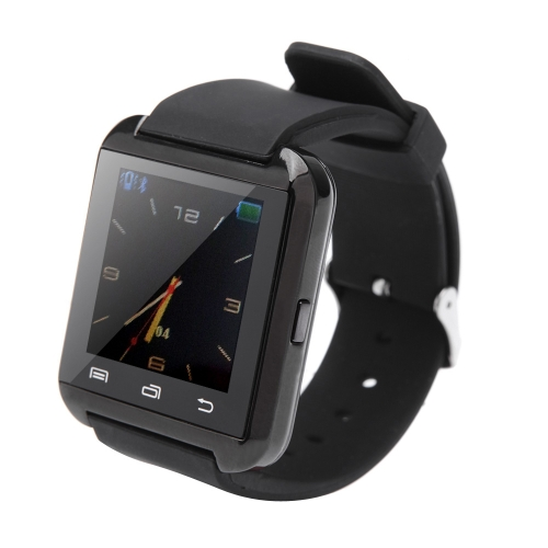 U8 Plus Bluetooth Smart Watch Wrist Watch for iPhone 4/4S/5/5S with IOS 7.1 or Above Samsung S4/Note 2/Note 3 HTC Android Phone Smartphones Anti-lost Alarm Function Touch Screen