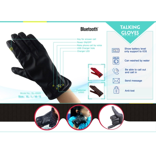 Men Size Magic Bluetooth Glove Talk Speaker Microphone Smart Touch Screen Glove for Smart Phones