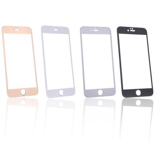 カラフル0.26mm 2.5D 9Hフルスクリーンチタン合金強化ガラスプロテクター 保護フィルムガードアンチ粉々for iPhone 6 Plus