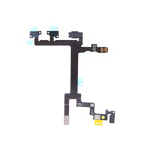 Power Button Switch Sleep Wake Vibration Volume Control Flex Cable Metal Bracket Assembly for iPhone 5