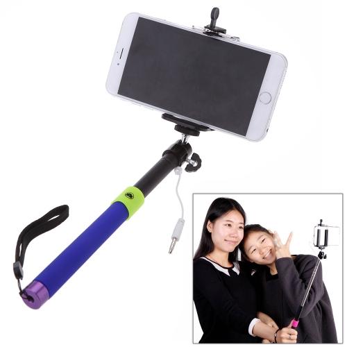 Portable extensible Selfie poche monopode bâton porte-câble pour iPhone 4 s 5 5 s 5 6 6 Plus de Smartphone Samsung