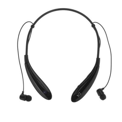 新最も売れポータブルHV-801フレキシブルなネックストラップスタイルをベストインイヤースマートフォン、タブレットPCノート用のマイクを使ってワイヤレススポーツステレオBluetooth4.0ハンズフリー音楽ヘッドホンイヤホンヘッドセット