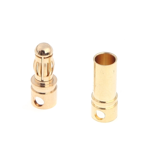 10 Pairs 3.5mm Copper Bullet Banana Plug Connectors Male + Female for RC Motor ESC Battery Part (3.5mm Banana Plug)