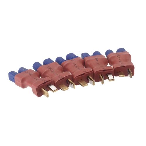 GoolRC 5 sztuk Dziekani Style EC3 Męski T wtykowe złącze męskie (EC3 męski na T Wtyczka Mężczyzna, EC3 Mężczyzna, T Wtyk męski)