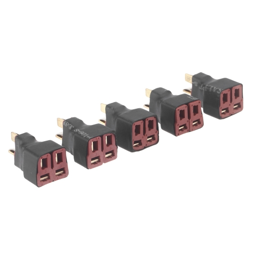 5 Pcs Deans Style T Plug Parallel RC Battery ESC Connector Adapter 1M2F