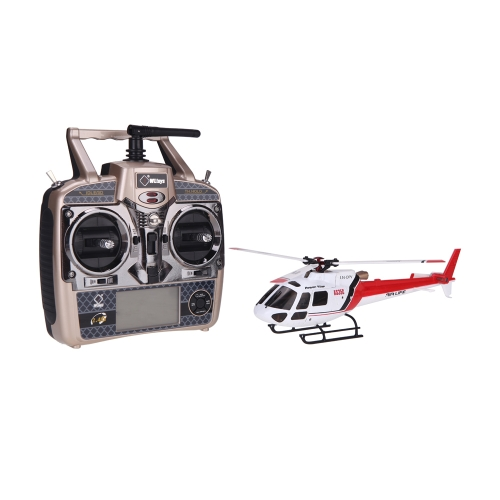 Original Wltoys V931 6CH Brushless Motor Flybarless  w/ 3 Axis & 6 Axis Gyro 3 Blade AS350 Scale Helicopter