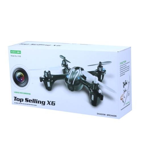 Mini Top Selling X6 2.4Ghz 4CH Remote Control Quadcopter W/ Camera Recording  (Mini 4CH Quadcopter;Top Selling X6 Quadcopter)