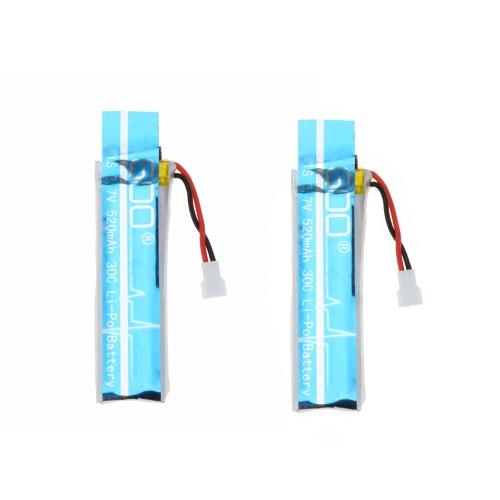 Wltoys V977-006(VA13) 3.7 v 520mAh 30C Lipo Batteria 2Pcs per 3D 6CH RC elicottero Wltoys V977 V930 batteria