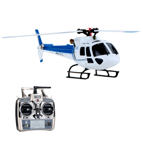 Original Wltoys Blue V931 RTF 6CH Brushless Motor Flybarless RC 3 Blade AS350 Scale Helicopter
