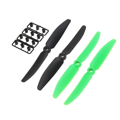 2 Pairs 5030 Propeller 5*3 2-Blade Props CW/CCW Black+Green for QAV250 C250 H250 Quadcopter