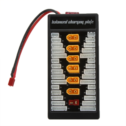 High Quality 2S-6S Lipo Parallel Charging Board Charger Plate TX60 Plug for Imax B6 B6AC B8 6in1
