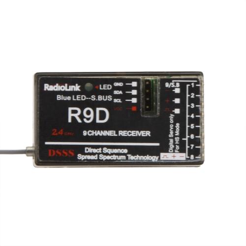 Original RadioLink R9D 2.4G 9CH DSSS Receiver for RadioLink AT9 AT10 Transmitter RC Helicopter Multirotor Support S-BUS