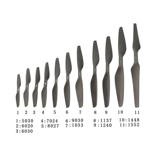 2 Pairs New High Performance 6030 6*3 3-Hole Carbon Fiber Propeller Prop CW/CCW for DJI F330 QAV250/280 H250 T-Motor Multirotor Quadcopter