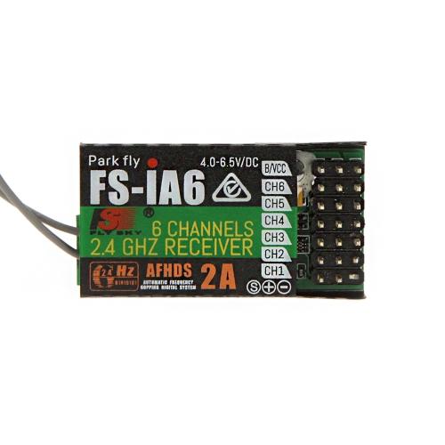 2шт 2.4 G Flysky FS-iA6 6 канальный приемник пульта дистанционного управления с двойной антенной совместимый Flysky i4 i6 i10 GT2E GT2F GT2G передатчика