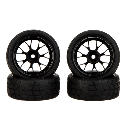 GoolRC 4Pcs High Performance 1/10 Rally Car Wheel Rim and Tire 20101 for Traxxas HSP Tamiya HPI Kyosho RC Car