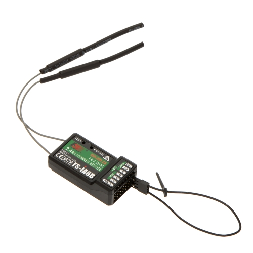 2.4G Flysky FS-iA6B 6 Ch Receiver PPM Output with iBus Port Compatible Flysky i4 i6 i10 Transmitter