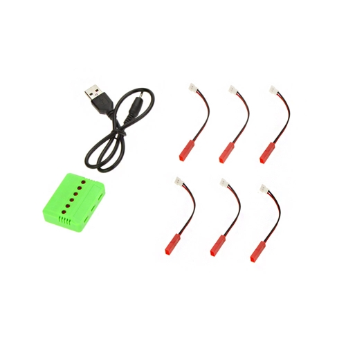 RC Helicopter Airplane 6-port USB Lipo Battery Charger with JST Charging Cable for WLtoys V969 V979 V212 V222 U817A U818A