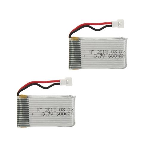 2個 アップグレード ハイパワー 3.7V 600mAh リポバッテリー  SYMA X5C X5C-1 X5 JJRC H5C RC クアッドコプター用【並行輸入品】
