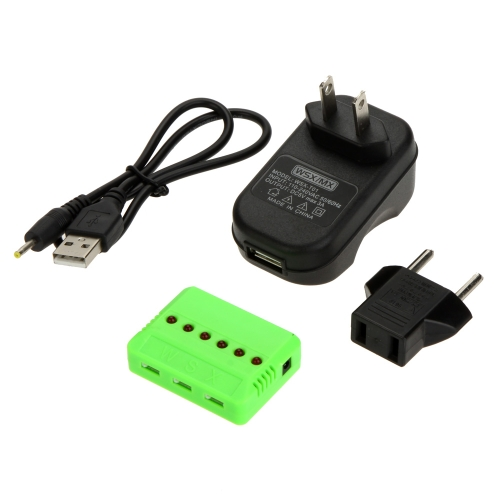 WSX/MIX 6-In-1 High Efficient Charger with EU&US Adapter Compatible With Hubsan H107L H107C WLtoys V977 JJCR H5C Syma X5C