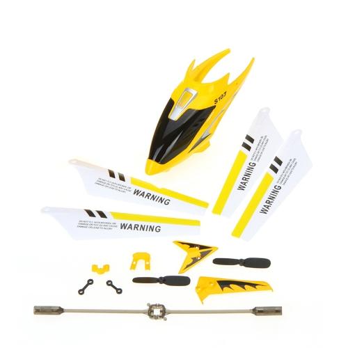 Syma フル交換部品セット スペア キット ヘッド カバー メイン ブレード バランス バーなど Syma S107G rc ヘリコプター黄